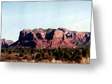 Approaching Sedona Greeting Card
