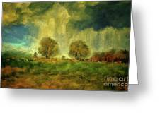 Approaching Storm At Antietam Greeting Card by Lois Bryan