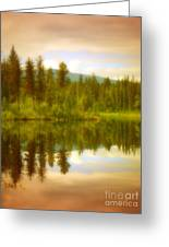 Apricot Reflections Greeting Card