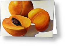 Apricots Greeting Card by Shannon Grissom