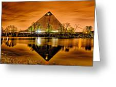 April 2015 - The Pyramid Sports Arena In Memphis Tennessee Greeting Card