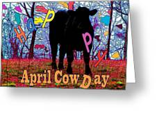 April Cow Day Greeting Card