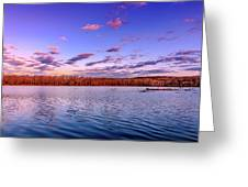 April Evening At The Lake Greeting Card