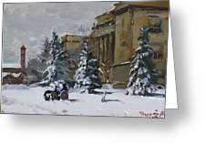 April Snow By The Nacc Greeting Card
