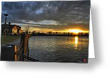 April Sunsets Greeting Card