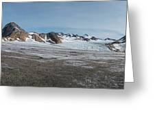 Apusiaquik Glacier Greenalnd Pano 7334-7351 Greeting Card