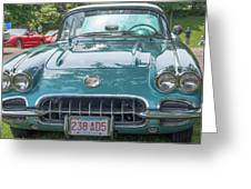 Aqua Blue 1959 Corvette  Greeting Card