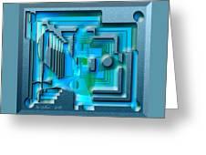 Aqua Blue Greeting Card