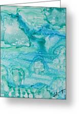 Aqua Dream Greeting Card