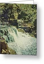 Aqua Falls Greeting Card