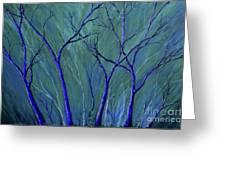 Aqua Forest Greeting Card