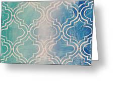 Aqua Moroccan Greeting Card