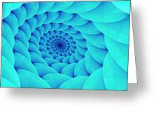 Aqua Pillow Vortex Greeting Card