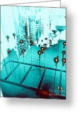 Aqua Reflections Greeting Card