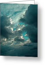 Aqua Sky Greeting Card