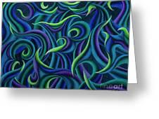 Aqua Tango Greeting Card