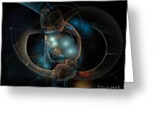 Aqua Wormholes Greeting Card