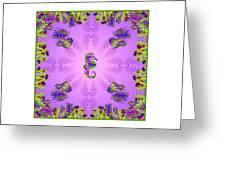 Aquarium Rising Lavender Greeting Card