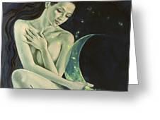 Aquarius From  Zodiac Signs Series Greeting Card by Dorina  Costras