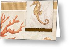 Aquarius I Coral Square Greeting Card