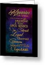 Aquarius Greeting Card by Mamie Thornbrue