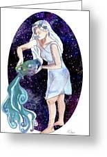 Aquarius Water Bearer Greeting Card