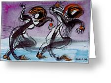Aquatic Dancers Greeting Card