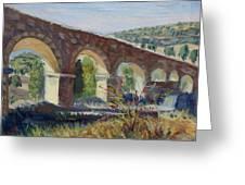 Aqueduct Near Pedraza Greeting Card