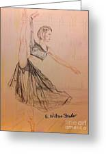 Arabesque On Pointe Greeting Card