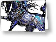 Arabian In Blue Greeting Card
