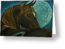 Arabian Moon Greeting Card