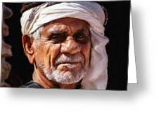 Arabian Old Man Greeting Card