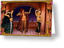 Arabic Dancers Greeting Card