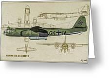 Arado Ar234b-2 - Profile Art Greeting Card