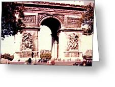Arc De Triomphe 1955 Greeting Card