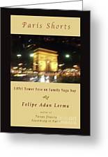 Arc De Triomphe By Bus Tour Cover Art Greeting Card