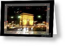 Arc De Triomphe By Bus Tour Greeting Card Poster V1 Greeting Card