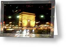 Arc De Triomphe By Bus Tour Greeting Card Poster V2 Greeting Card