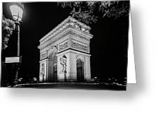 Arc De Triomphe Paris, France  Greeting Card