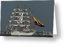 Arc Gloria Colombian Tall Ship Greeting Card