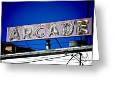 Arcade Vintage Sign Greeting Card