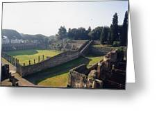 Arcaded Court Of The Gladiators Pompeii Greeting Card