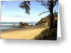 Arcadia Beach Greeting Card