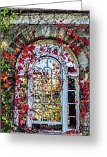 Arch And Red Vines Greeting Card