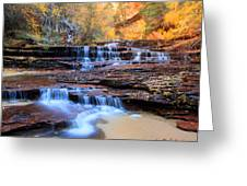 Arch Angel Waterfalls In Zion Greeting Card