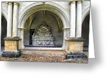 Arch At Fontevraud Abbey  Greeting Card