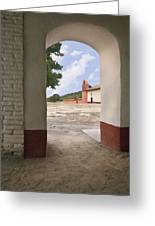 Arch At La Purisima Greeting Card