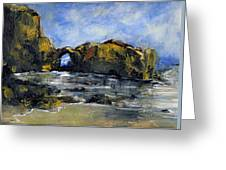 Arch At Pearl Beach Over Cast Greeting Card