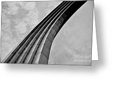 Arch In Black And White Greeting Card