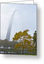 Arch In The Fog Greeting Card